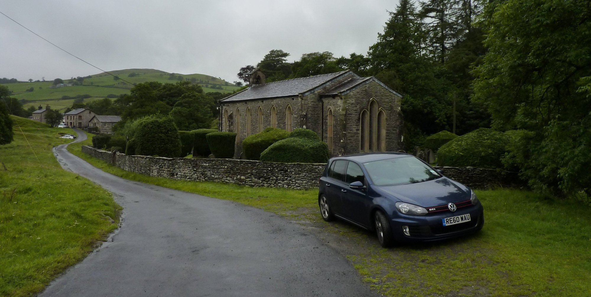 Parking by the church in Howgill Lane