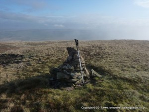 Summit cairn on Harter Fell in the Howgills