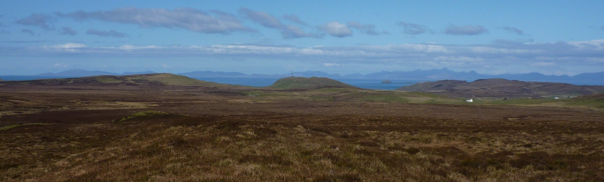 Looking back across the soggy wasteland to Cnoc Roll