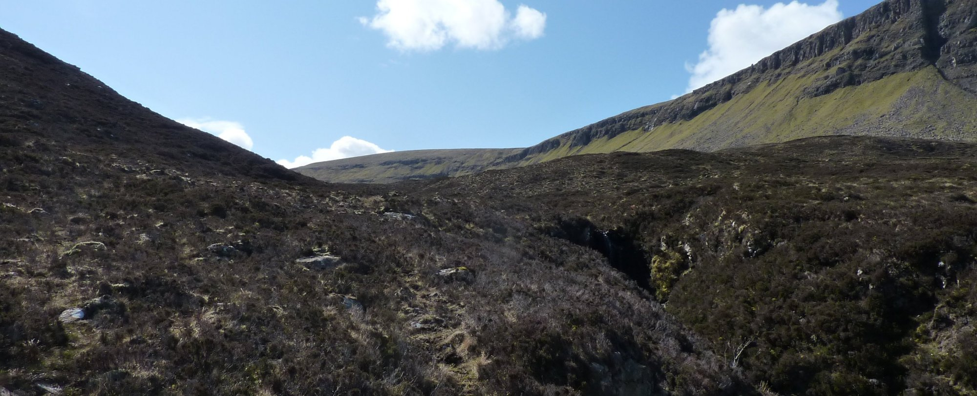 Following what path there is, up into Coire Mhic Eachainn