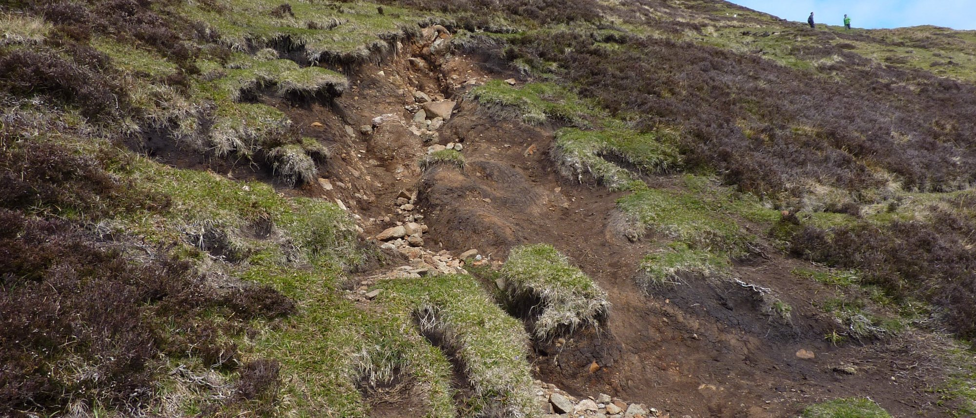 The dreadful, eroded path down from to the lower Quiraing path; when wet, this must be a nightmare
