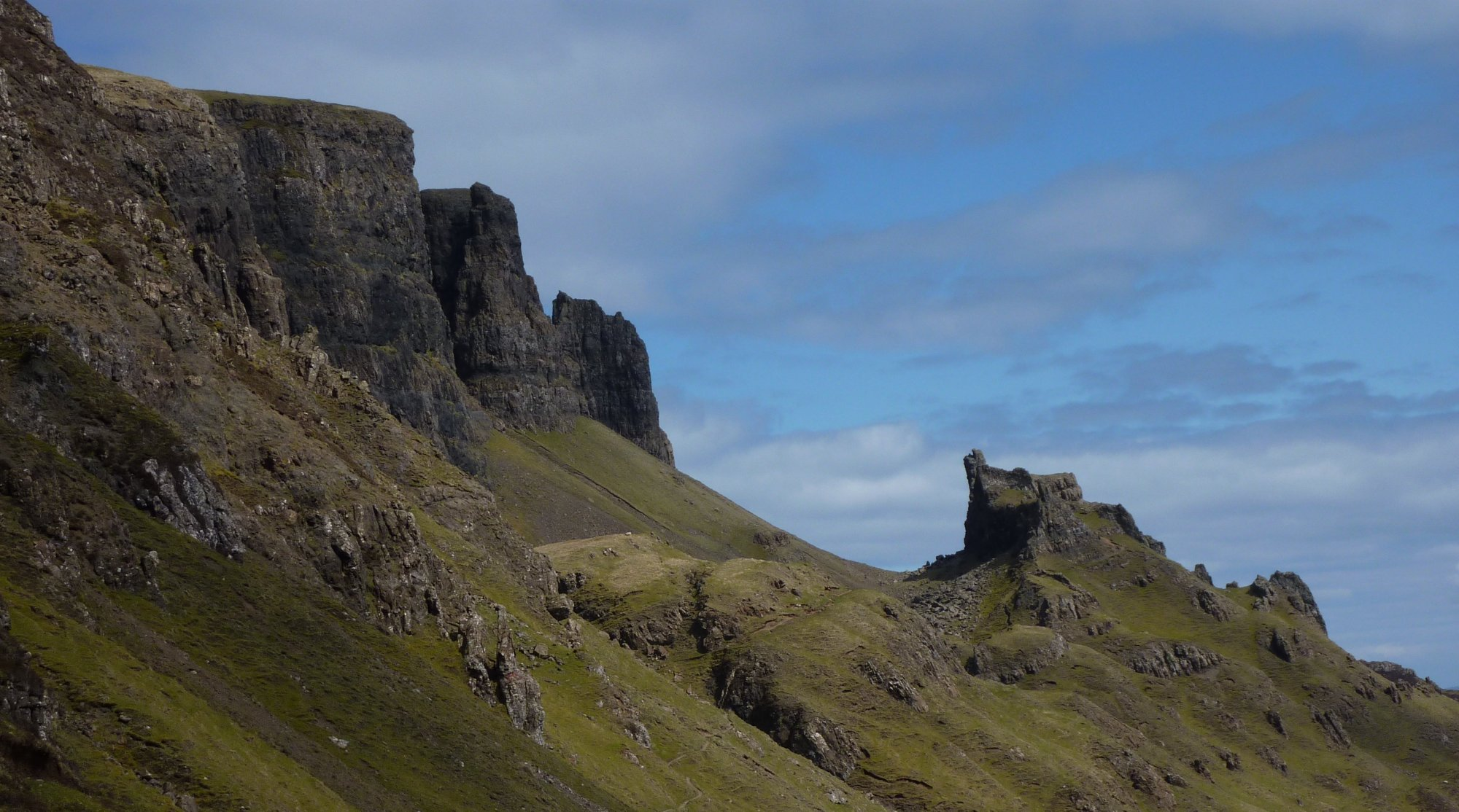 Along the lower Quiraing path the scenery is breathtaking and the path is great