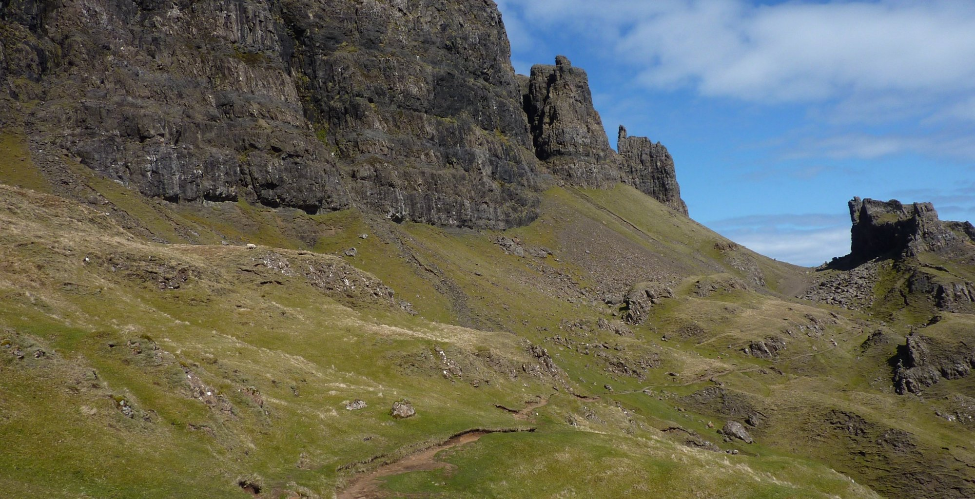 The Needle and the Prison, seen from the lower Quiraing path
