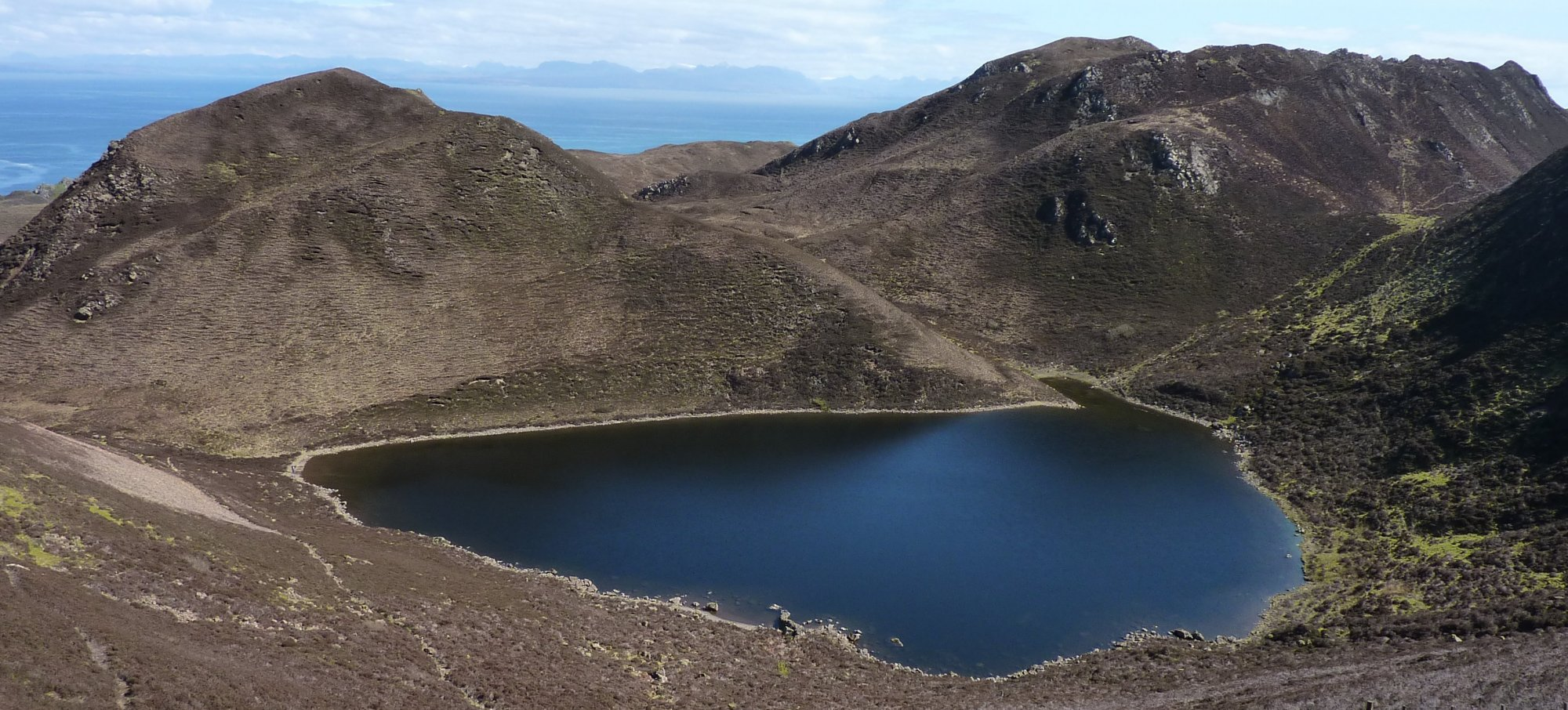 Looking down on Loch Hasco