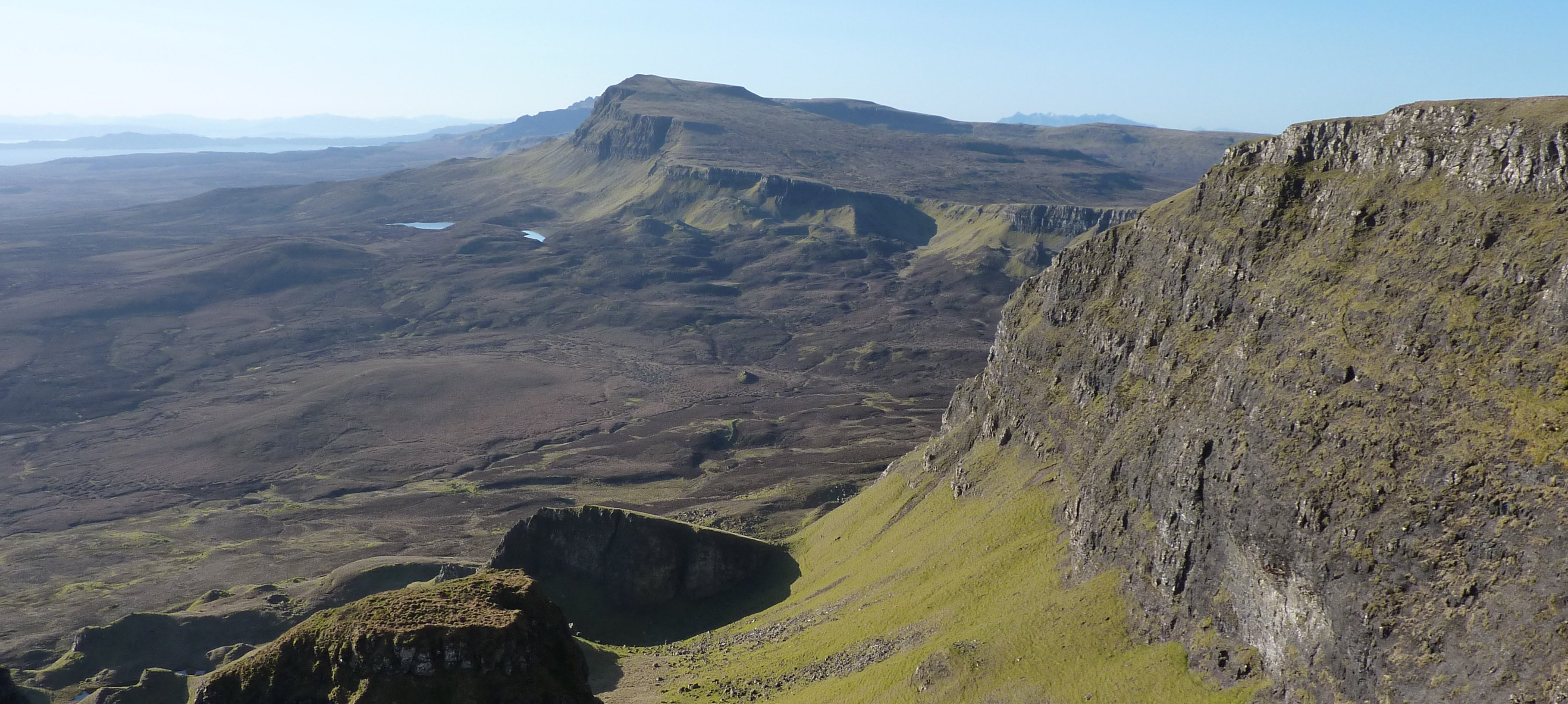 Ahead, the Trotternish Ridge beckons - a series of painful ascents and steep descents