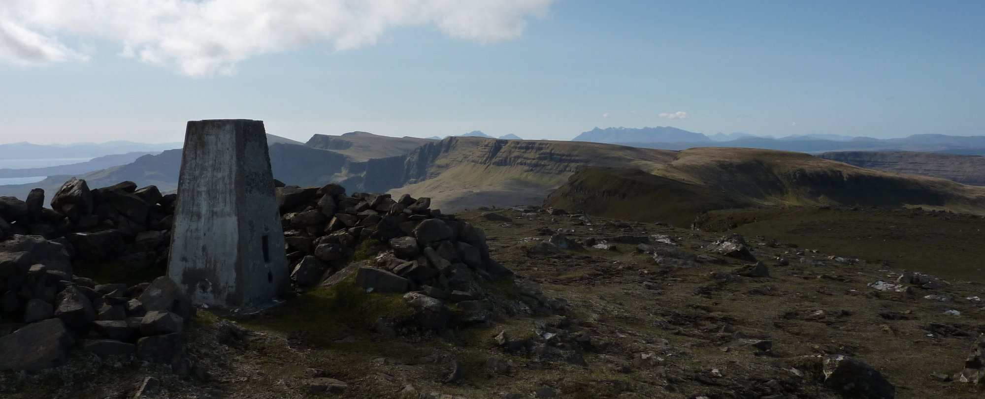 The view from Beinn Edra trig point