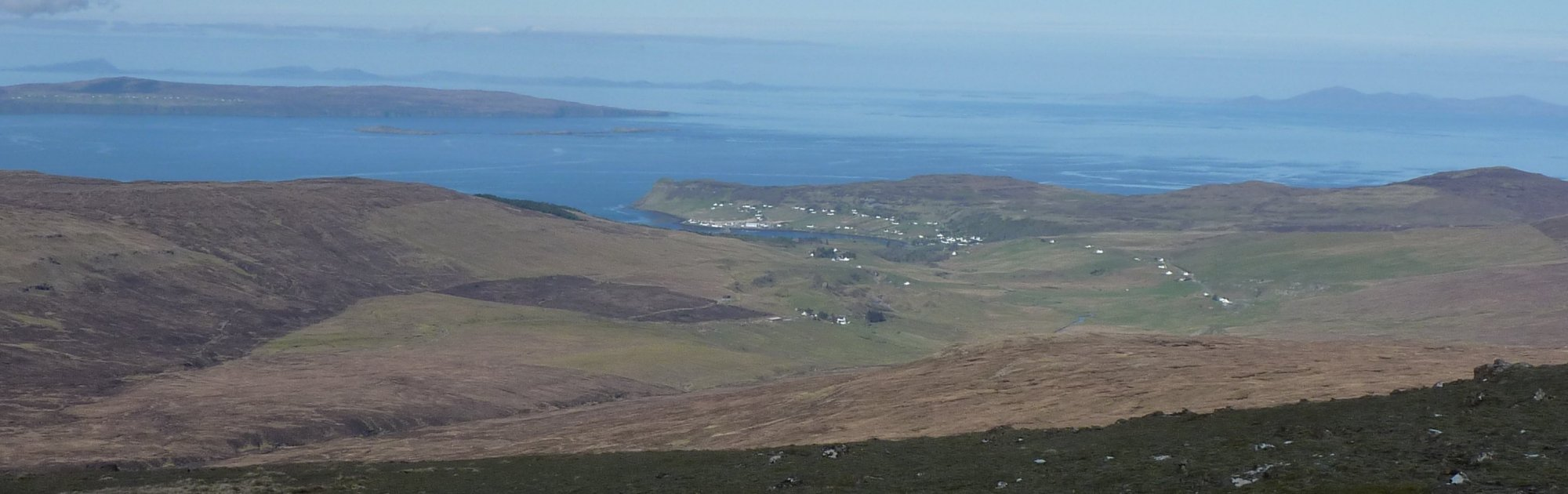 The town of Uig far below