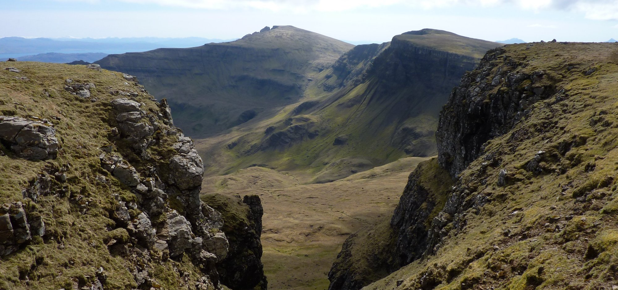 Looking across to the Storr from a rocky gulley on Baca Ruadh