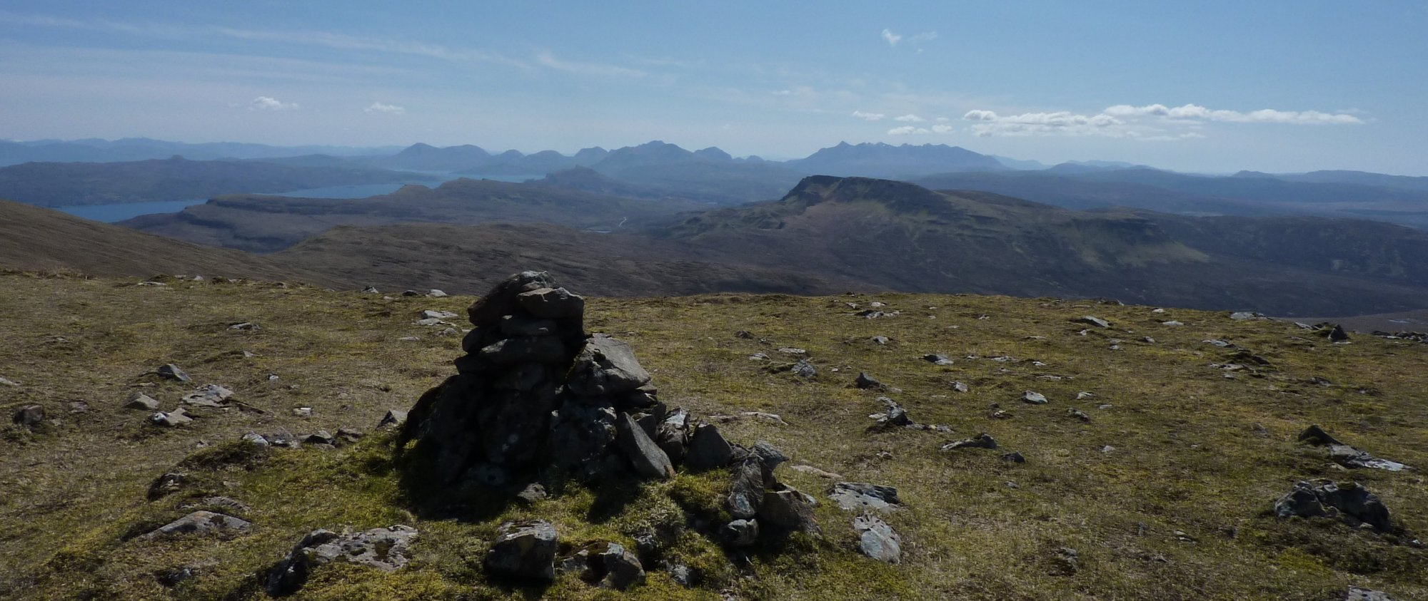 The view towards the Cuillins from Hartaval summit