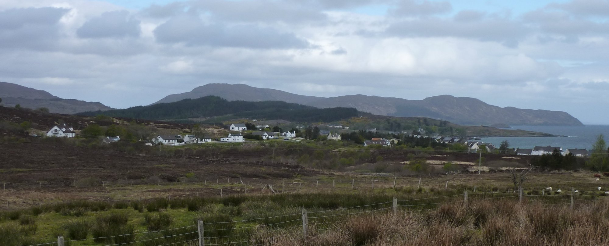 Looking back to Broadford, a lovely place, but not a suitable end or start to the Skye Trail