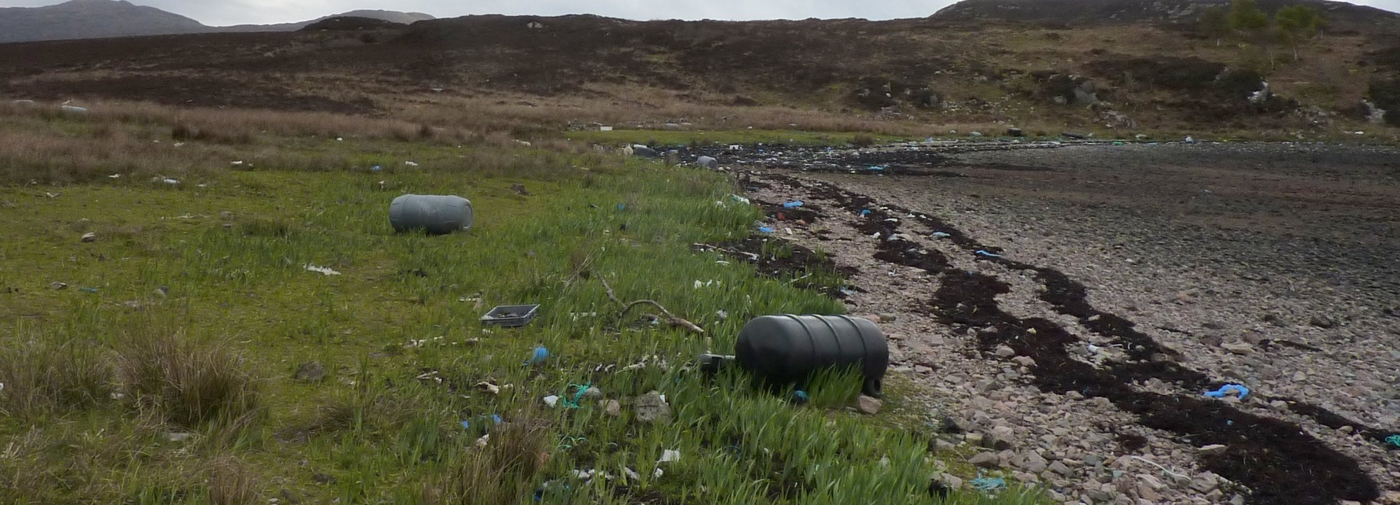 More litter and more drums as I approach the head of Loch Eishort