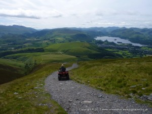 The best way to descend Skiddaw!