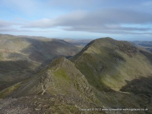 Cofa Pike (centre left) with St. Sunday Crag (centre right)