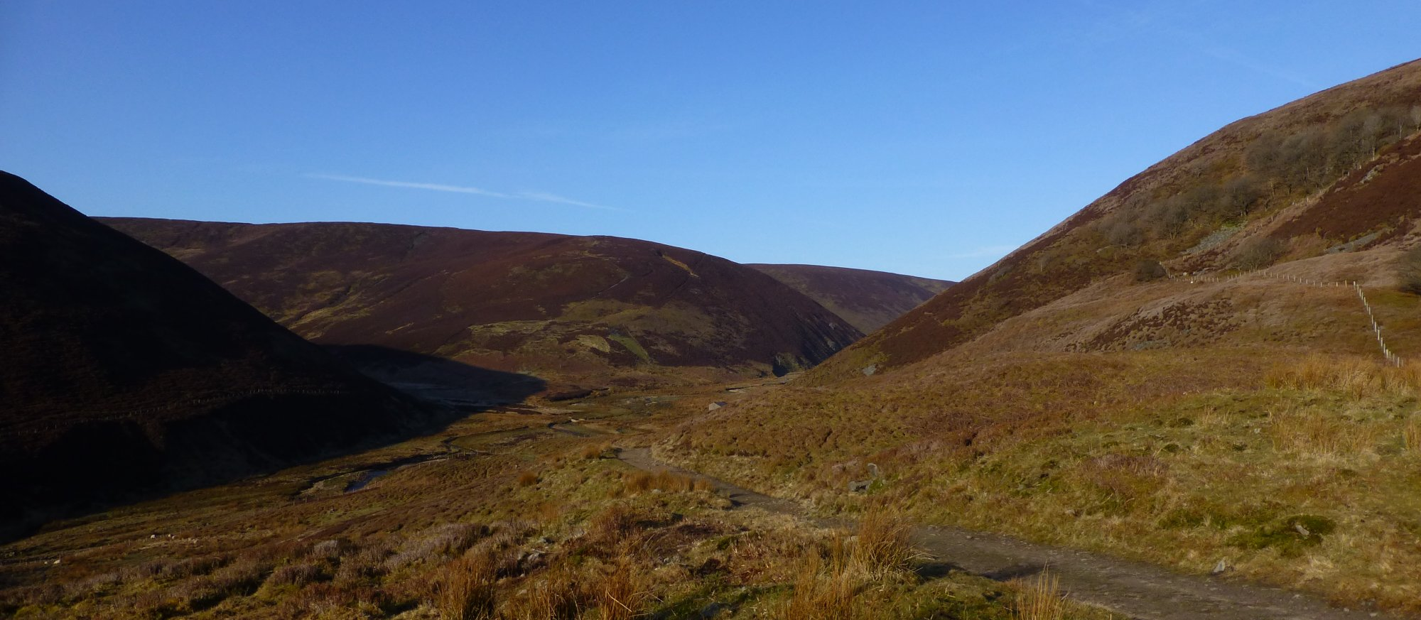 Walking up into Fiendsdale in the Bowland Fells