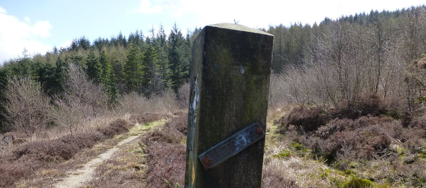 The 'Ultreia' plaque on this post means a kist is nearby!