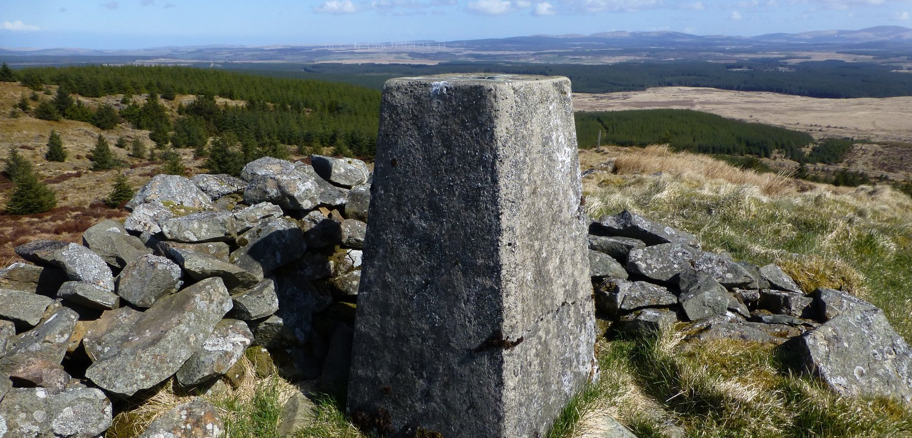 The summit and trig point of Craig Airie Fell