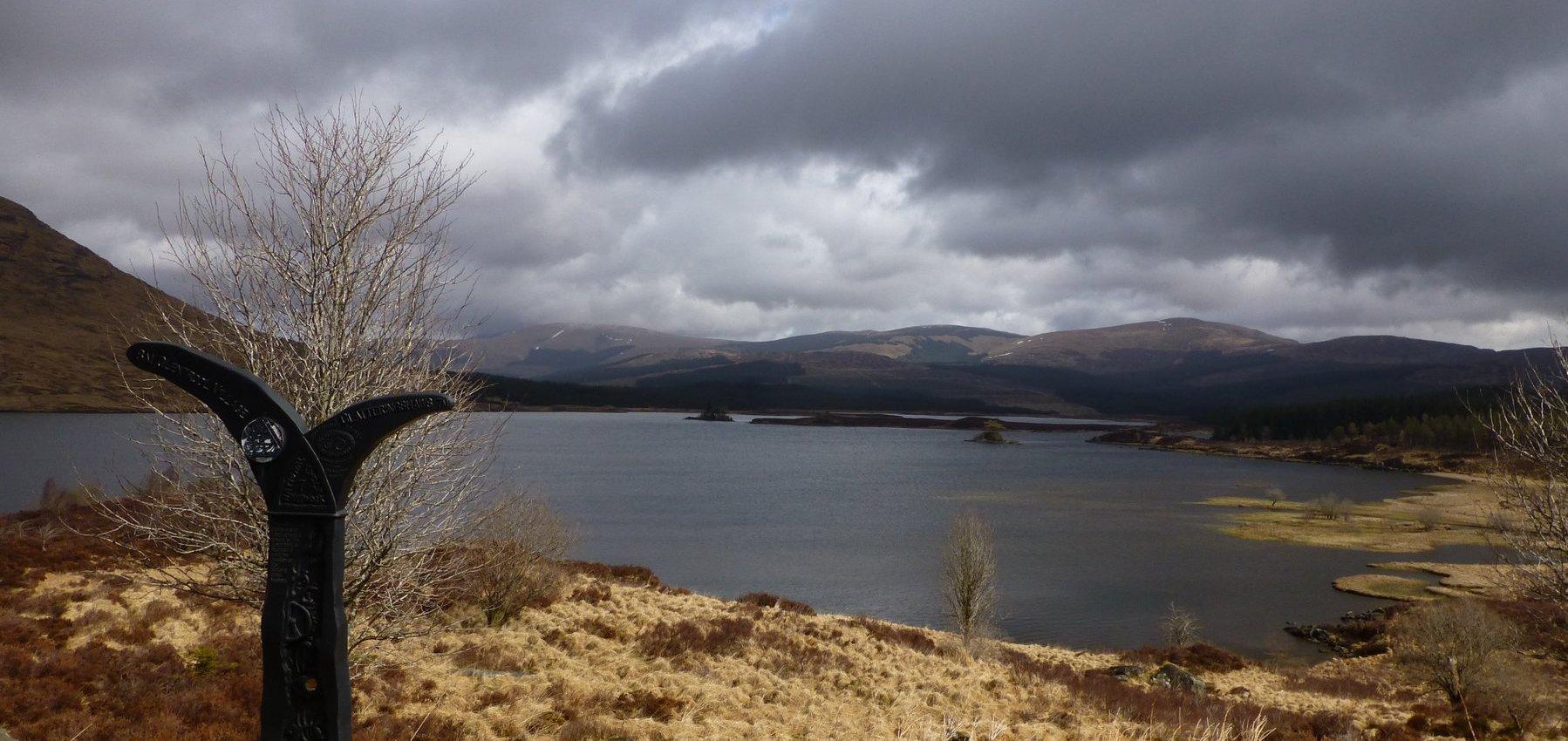 The splendid view across Loch Dee