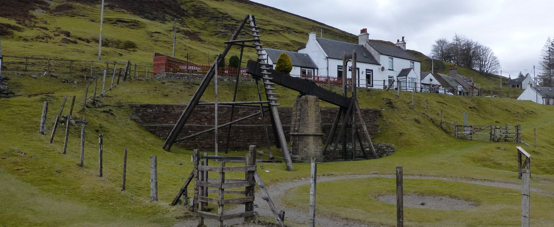Beam engine in Wanlockhead