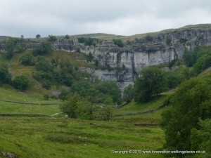 Approaching the fabulous Malham Cove