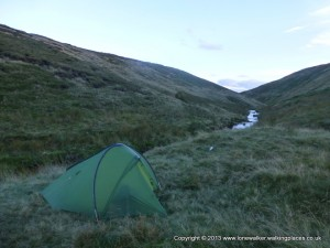 Camp beside Crowden Great Brook