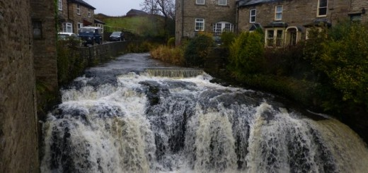 Waterfall in Hawes, right in the centre of the village