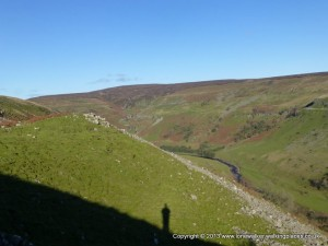 Great shadow photo opportunities at this time of year - Swinner Gill ahead