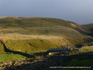 Climbing up Cross Fell, still with some sun