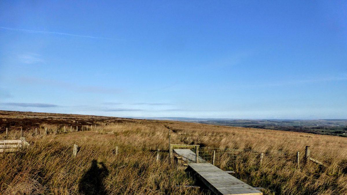 On the Pennine Way, frozen bogs, utter bliss!