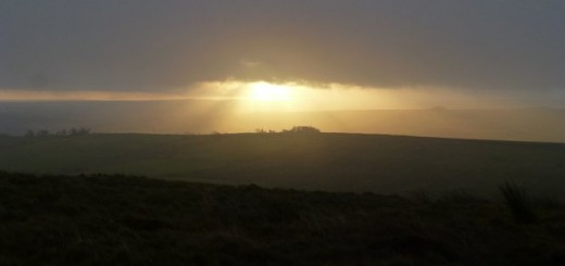 A rather muted dawn, seen from Hadrian's Wall