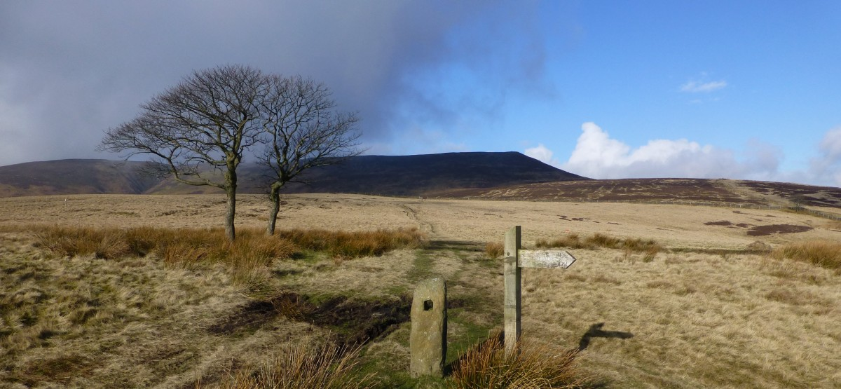 The route up to Kinder via Crookstone Hill
