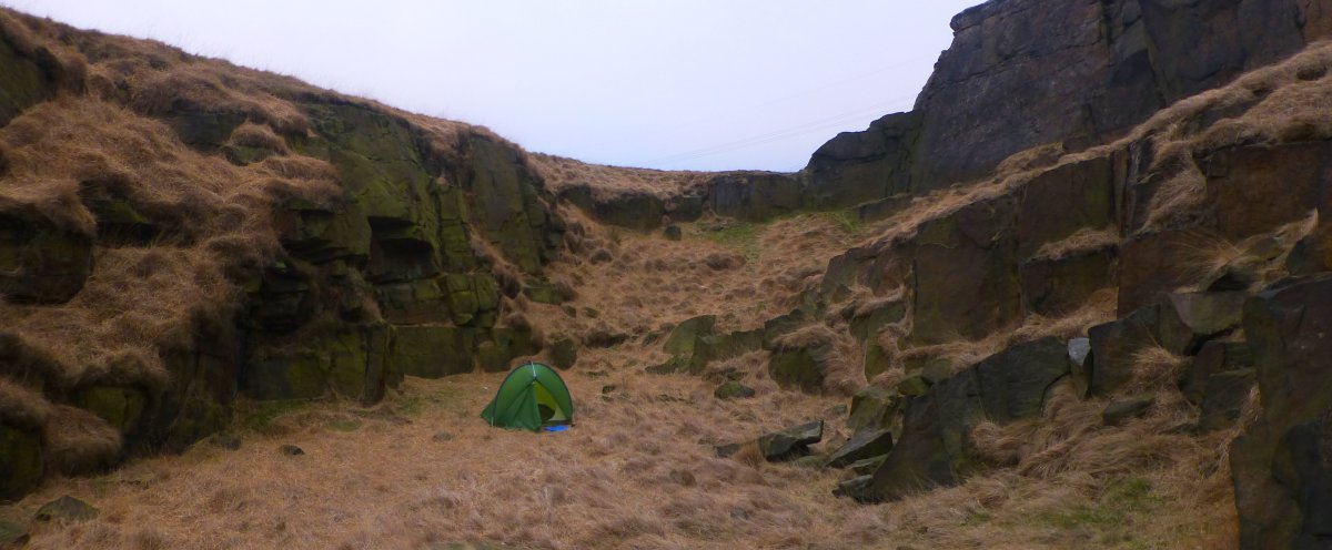 Quiet pitch on the Pennine Way