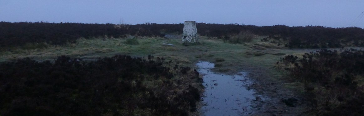 An early start to bag the trig point on Penistone Hill (no sniggering at the back!)