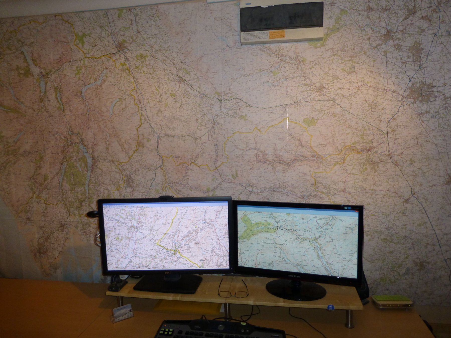 My Ordnance Survey Map Wall
