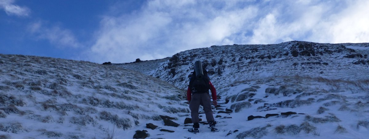 Icy ascent of Plover Hill