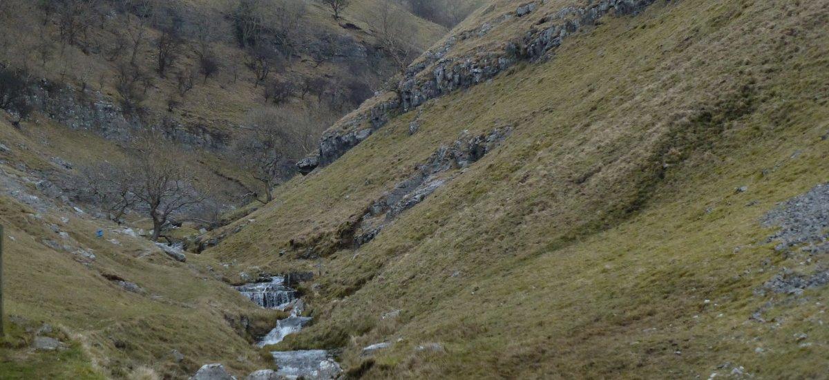 The start of the path beside Buckden Beck