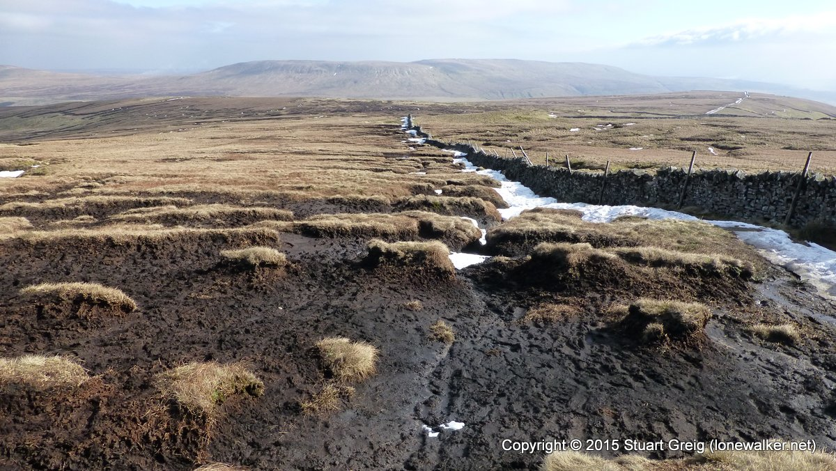Eroded peat on Buckden Pike