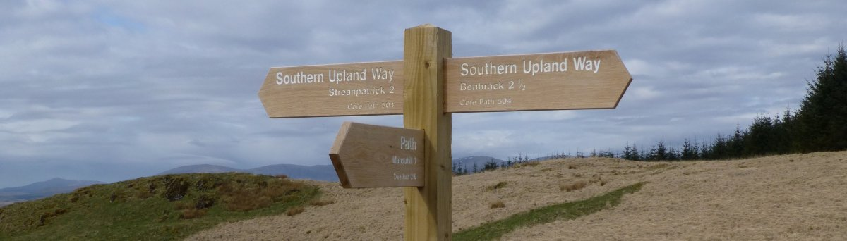 New signage on the Southern Upland Way