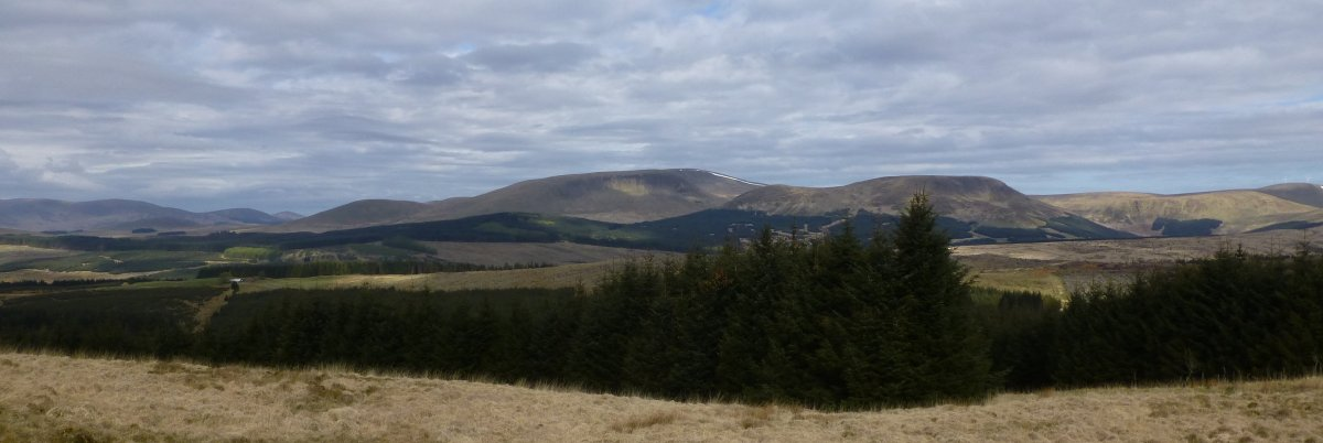 View from ascent of Benbrack