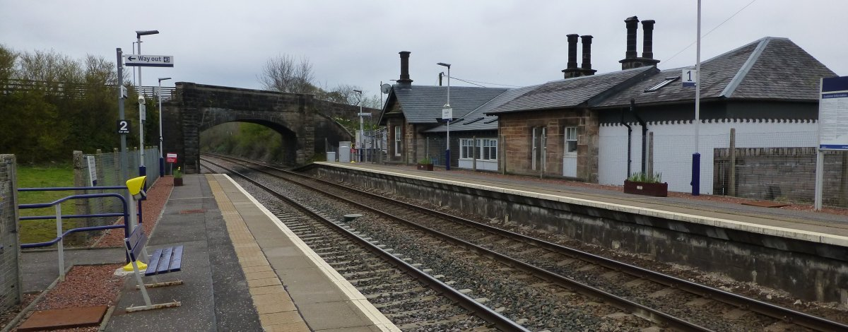 Heading home! The train station at Sanquhar