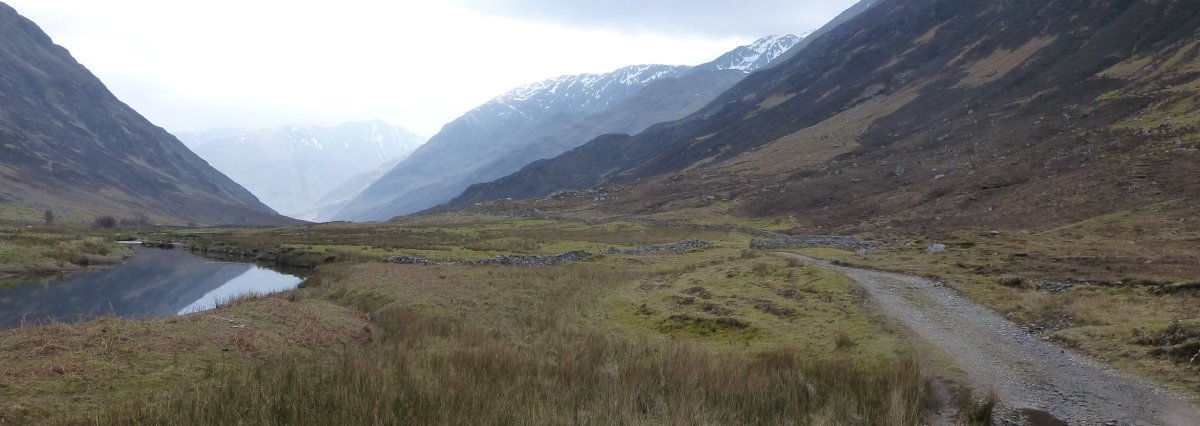 Walking down Glen Lichd beside the River Croe