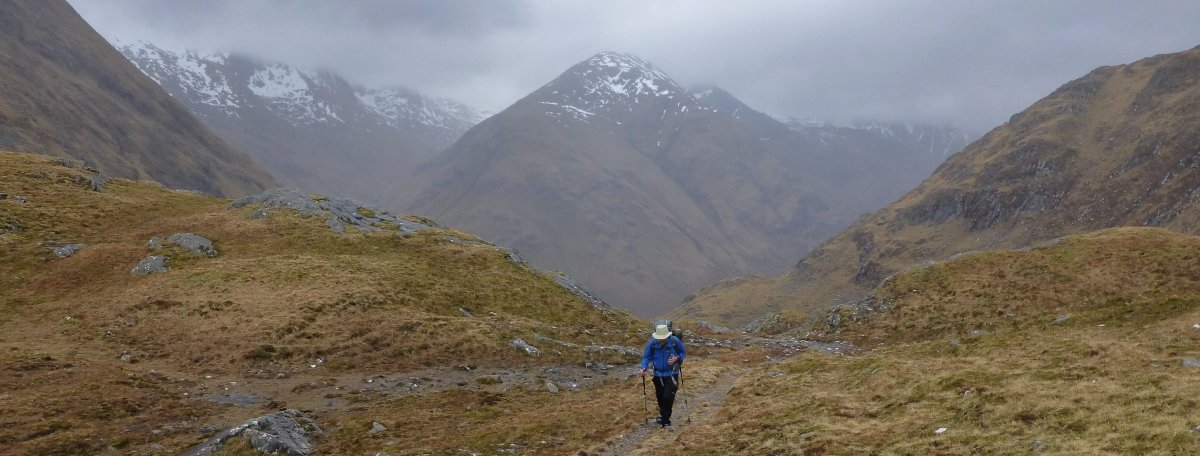 Looking back to the Five Sisters of Kintail