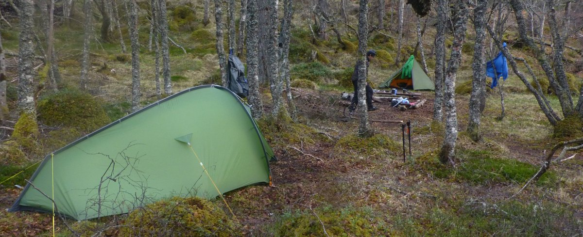 Wild camp on the Affric Kintail Way