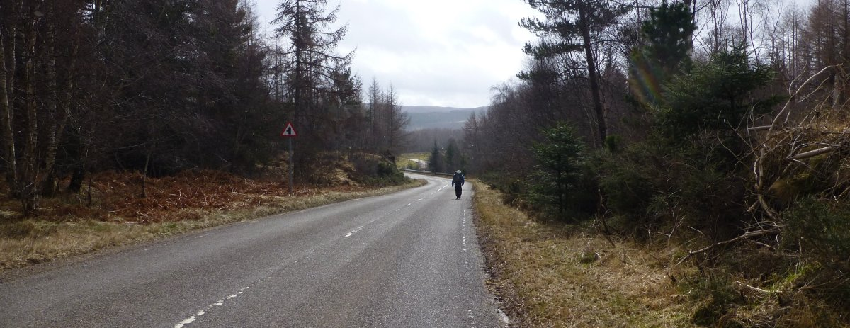 Dreary road section out of Cannich