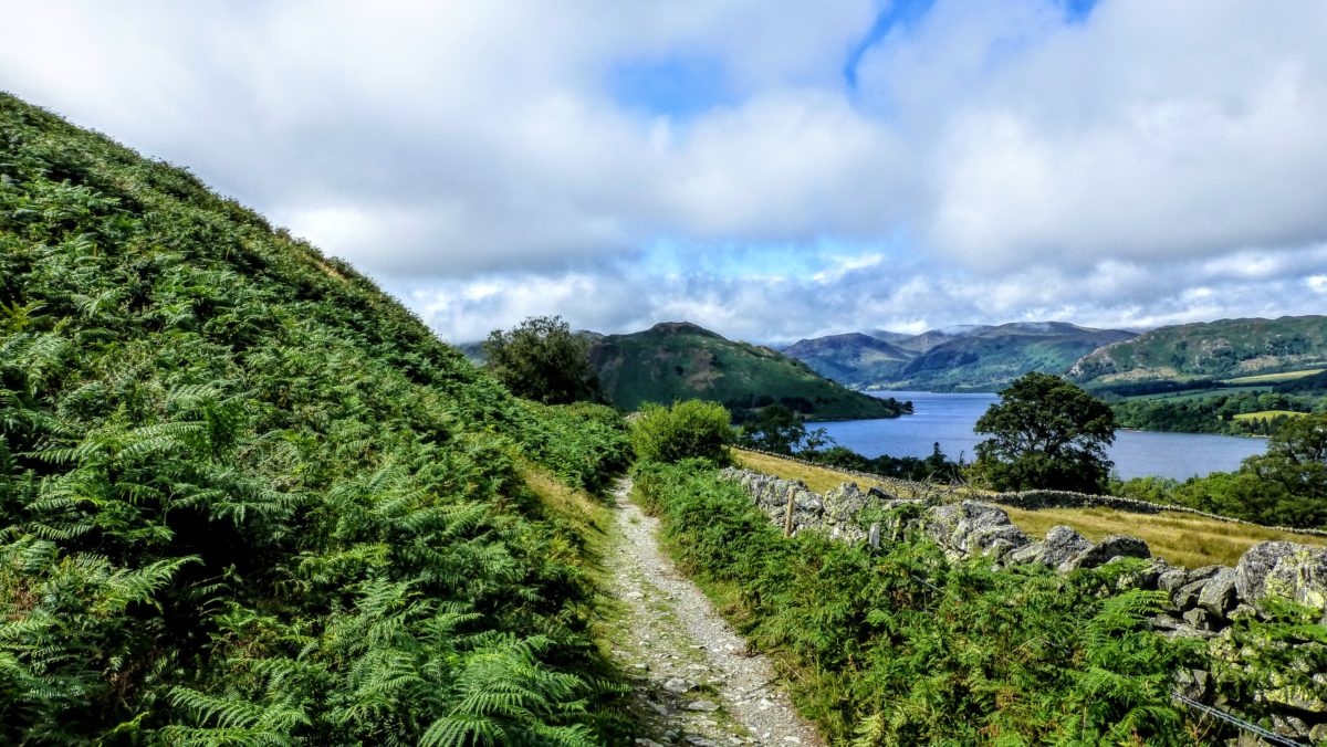 Westmorland Way, beside Ullswater