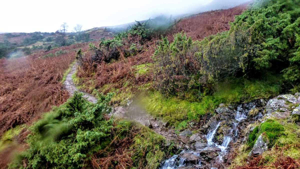 Battling wind and rain on the Westmorland Way