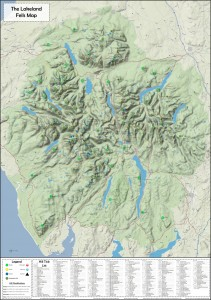 The Lakeland Fells Topology Map v1.3 2014 (For printing)
