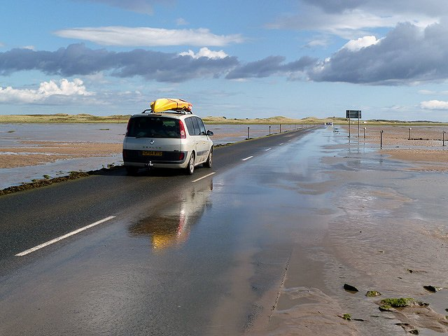 Lindisfarne Causeway (photo courtesy of Walter Baxter)
