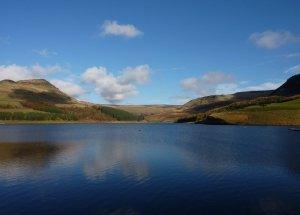 The view across Dovestone Reservoir