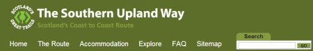 The Southern Upland Way website