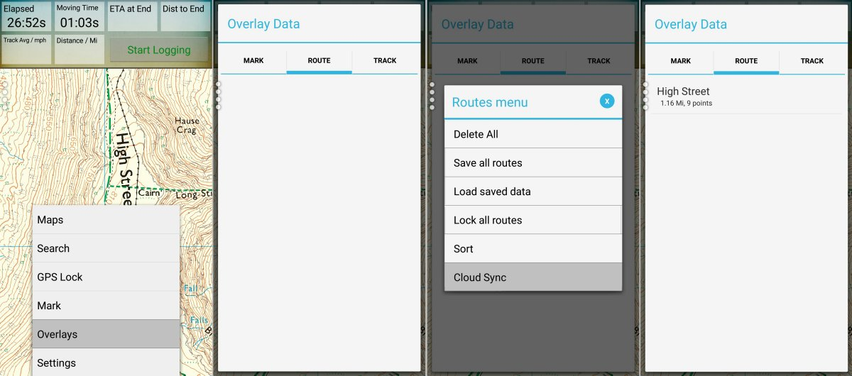 Sync to Cloud on the Android mobile version